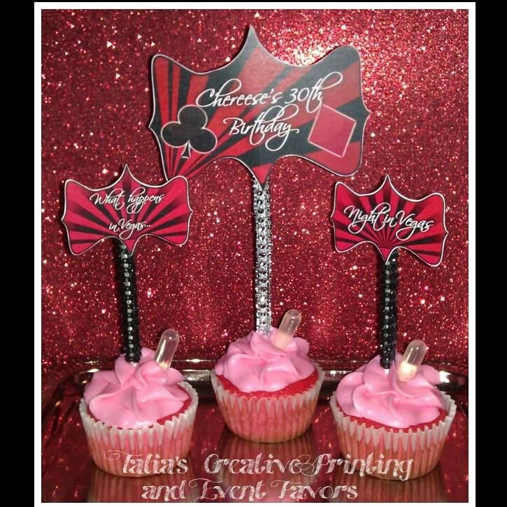 Strawberry Margarita cupcakes with @Sauza® Tequila shooter. Bling cupcake and cake toppers. #bling #candybuffet #candybuffetbling #cupcakes