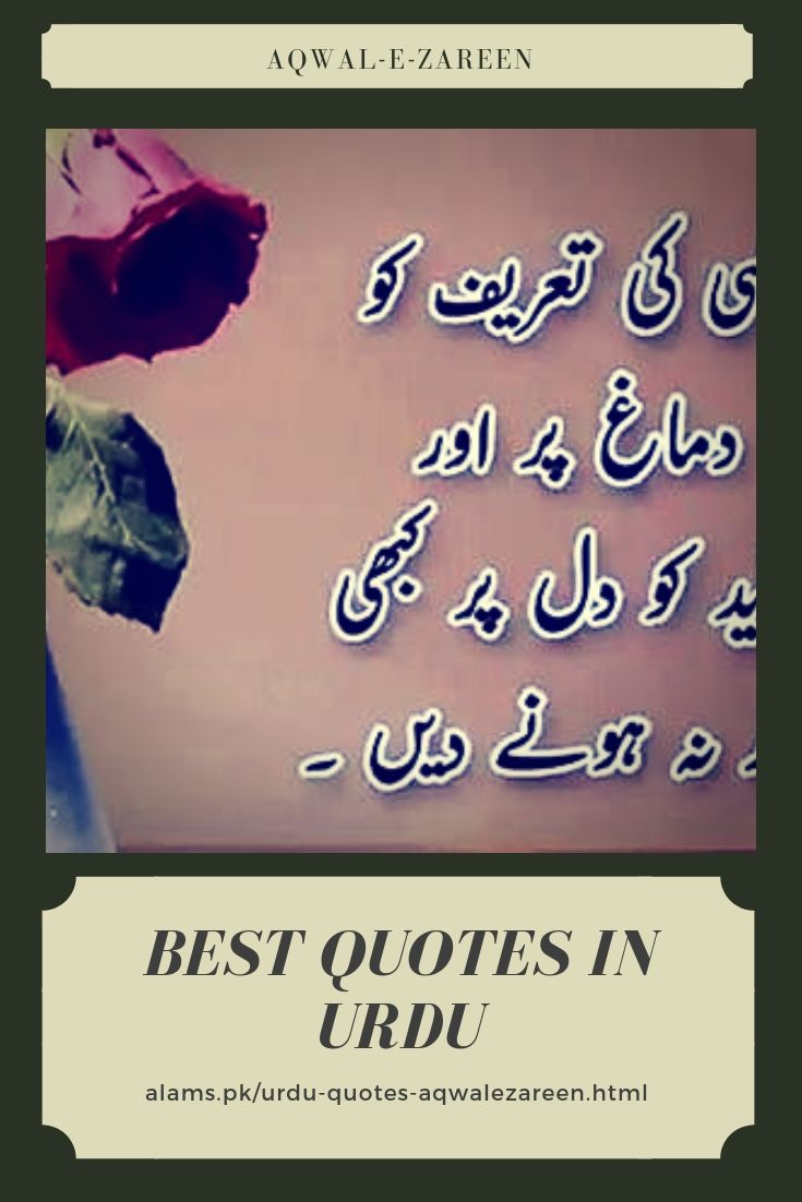 Best Quotes In Urdu Or Aqwal E Zareen By Famous And Wise People