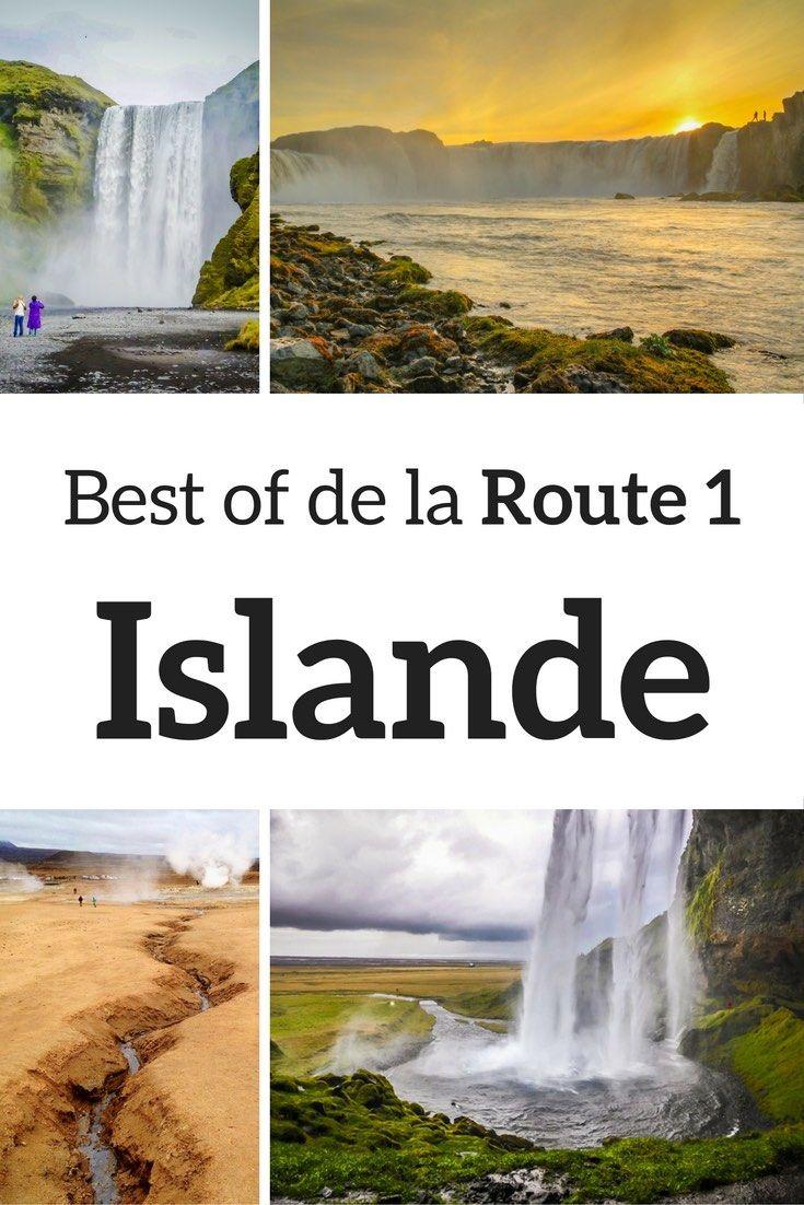 stops Route 1 Islande - Route circulaire Islande