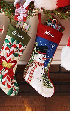 Personalizované vánoční punčochy na osobní výtvorů