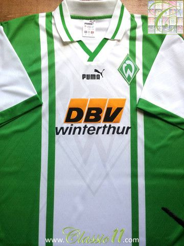 Relive Werder Bremen's 1996/1997 season with this vintage Puma home football shirt.