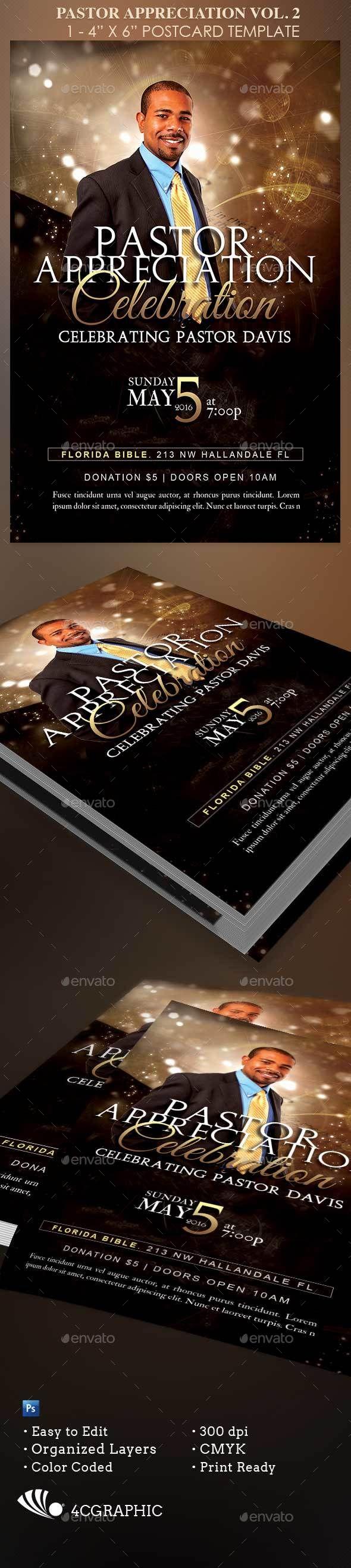 Starlight Pastor Anniversary Vol. 2  — PSD Template #postcard #church • Download ➝ https://graphicriver.net/item/starlight-pastor-anniversary-vol-2-/17697492?ref=pxcr