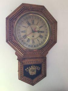 """C 1890 W. M. L. GILBERT WALL CLOCK """"ADMIRAL"""""""
