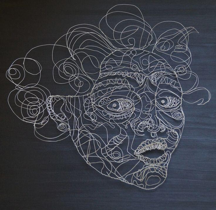 72 best My Wire Sculpture images on Pinterest | Wire sculptures ...