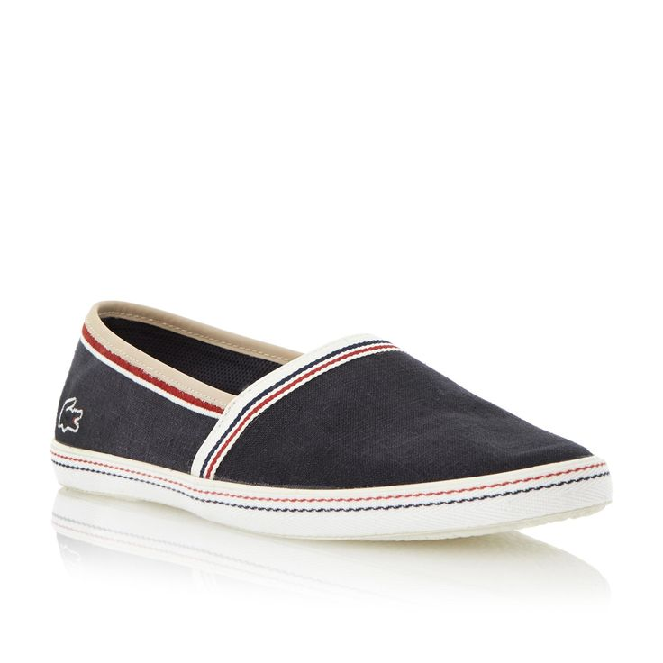 LACOSTE MENS AIMARD 2 AP - Slip On Plimsoll - navy | Dune Shoes Online