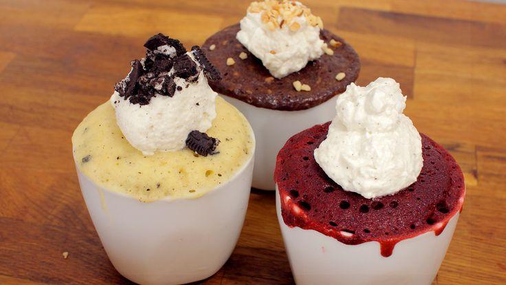 Top 3 Tassenkuchen - Oreo, Nutella, Red Velvet Rezepte als Back-Video zum selber machen! Ganz einfach Schritt für Schritt erklärt!