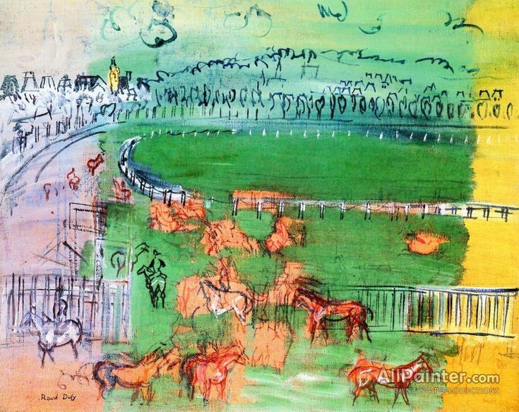 Raoul Dufy,The Paddock At Deauville oil painting reproductions for sale