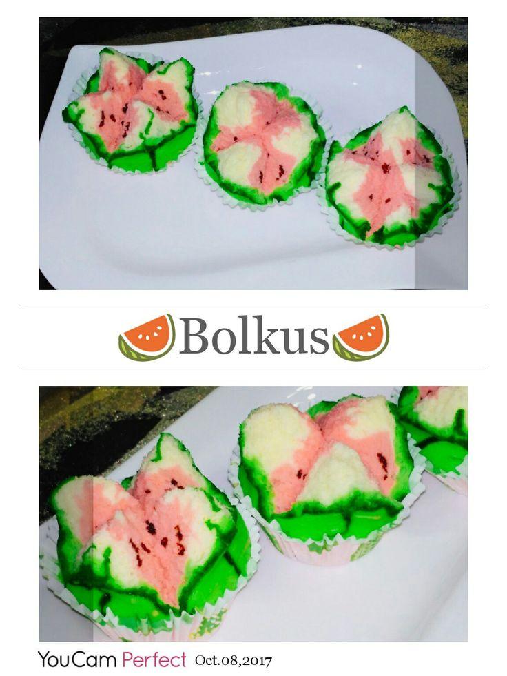 Steam cake watermelon...marc bday  presents for his school friend. .