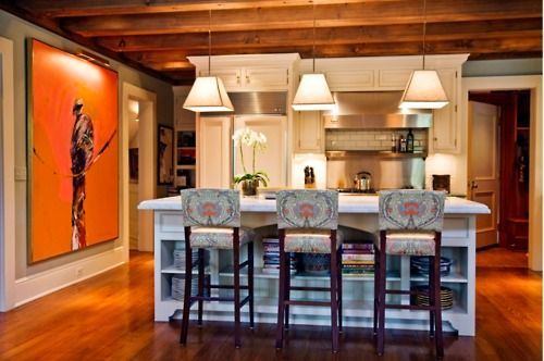 warm colors: House Ideas, Dream, Charlotte Barnes, Art Stools Lights, Small Kitchen, Kitchen Ideas, House Kitchens, Room