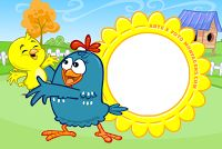 Molduras - Personagens galinhapintadinha3