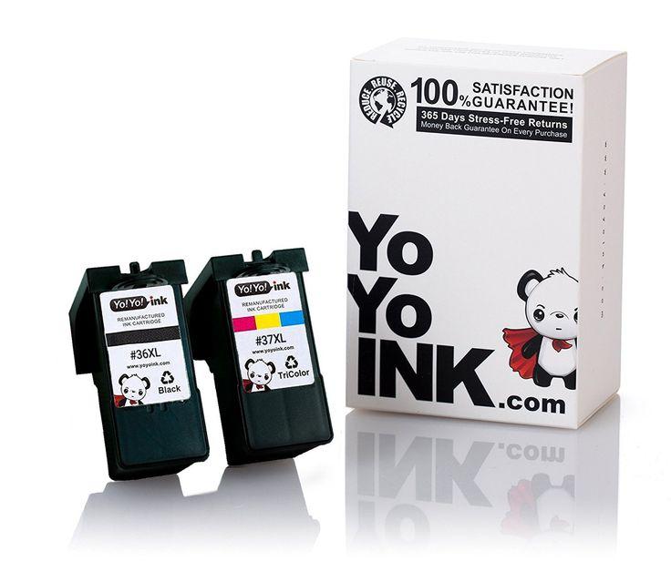 Remanufactured Lexmark 36XL Black & 37XL Color Printer Ink Cartridges: 1 Black, 1 Color (2 Pk)