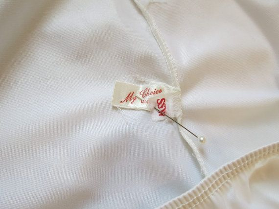 #mychoice - label on a 1960s half slip.