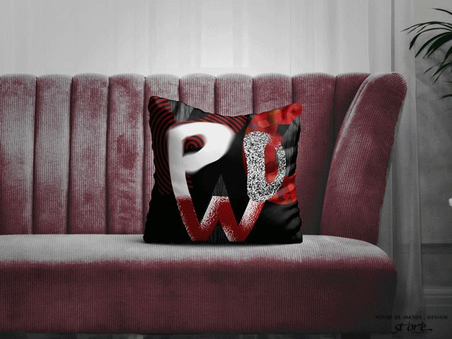 POW⠐ Double sided printed square Pillow by Vítor de Matos