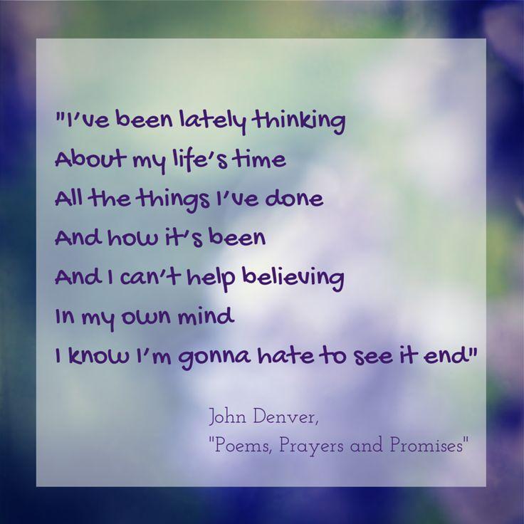 Growing old poems prayers and promises john denver