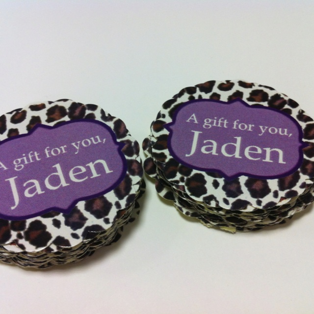 {Stickerlicious Singapore} chic leopard spots stickers and hang tags. Custom message, colors and size. http://etsy.me/Psrw2h