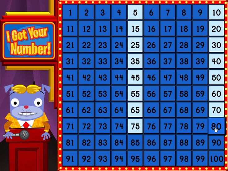 Check out this game where your kid will compete on a game show and use her skip counting skills to find the mystery numbers and win the big prize.