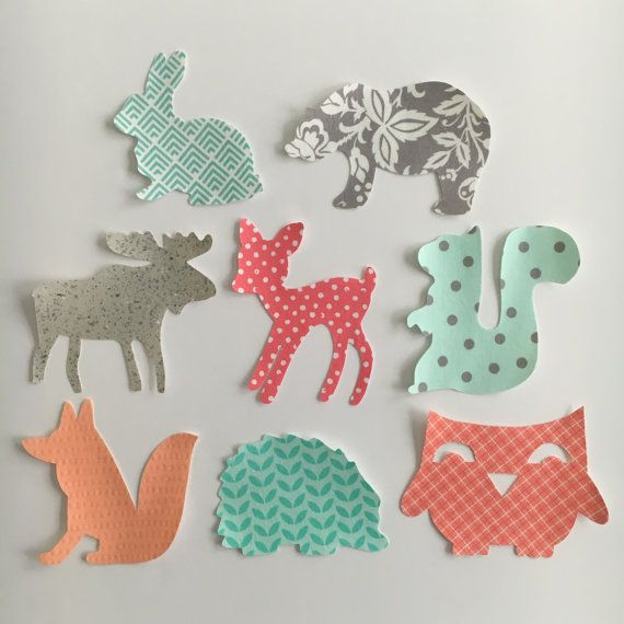 Iron-On Appliques Woodland Animals Theme for by bingecrafter