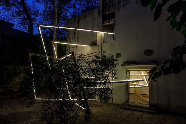 Artist of the Day  Zuleikha Chaudhari  THE TRANSPARENT PERFORMER III: SOME STAGE DIRECTIONS FOR [24 JOR BAGH]1/X 2014 Site-specific installation