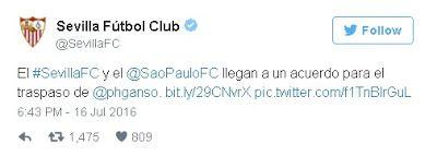 Transfer Live: Официјално: Бразилац Ganso ново појачање за Севиља...