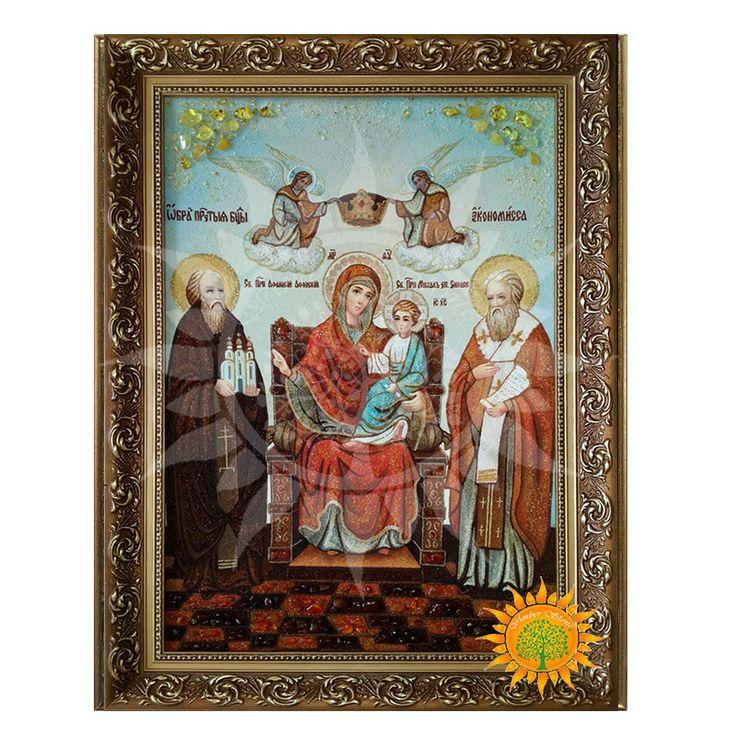 Икона из янтаря Божией Матери «Экономисса» – одна из основных чудотворных икон Афонской горы. В магазине Amber Stone легко купить иконы картины из янтаря
