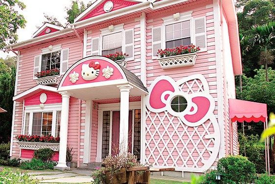 warna cat rumah mewah pink