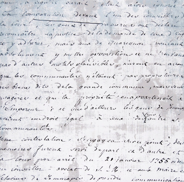 Une feuille de tissu plastifié adhésif imprimé écritures anciennes pour vos activités créatives en vente chez CréaPause
