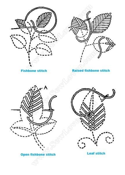 Mir Tati :): Растительные узоры в вышивке.: Embroidery Embroidery, Embroidery, Bordado Especial, Embroidery Stich, Leaf Stitches, Stitch Embroidery, Crosses Stitches, Embroidery Stitches, Bordado Diverso