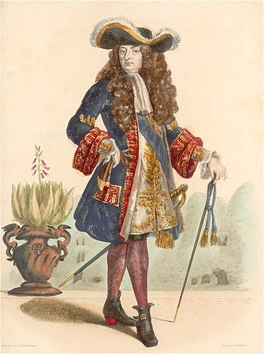 King Louis XIV of France (born Sept. 16, 1638). Known as the Sun King, Louis XIV of France succeeded to the throne when he was 4 years, 8 months old. He built the palace at Versailles. He died in 1715.