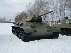 Т-34 — Т-34 1941 года выпуска в Бронетанковом музее в Кубинке
