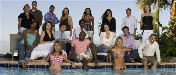 An 'Apprentice' Candidate Remembers Trump's Can't-Win  Sexism (she is in a red & white striped top)in the pool