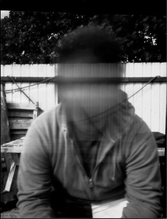 Self-portrait, backyard, NZ