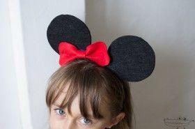 Diadema de Minnie. Cómo hacer una diadema de Minnie Mouse en #Fieltro Disfraces y #Manualidades con fieltro