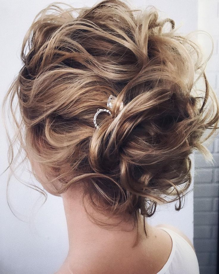 Beautiful Bridal Updos Wedding Hairstyles For A Romantic Bride – Textured updo, …