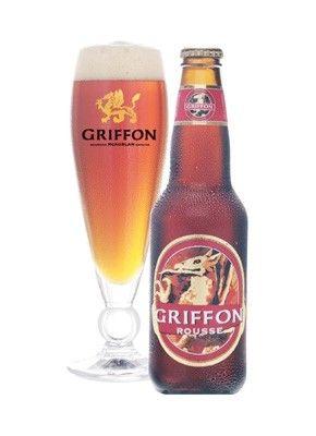 Cerveja St. Ambroise Griffon Rousse Red Ale, estilo American Amber Ale, produzida por McAuslan Brewing, Canadá. 4.5% ABV de álcool.