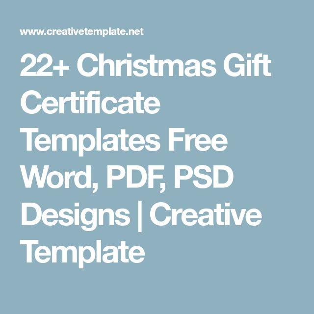 Yli 25 ainutlaatuista ideaa Pinterestissä Gift certificate - Christmas Certificates Templates For Word