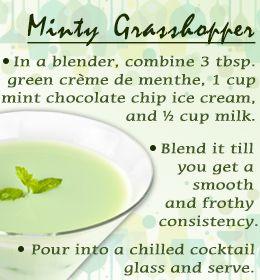 Minty grasshopper drink recipe