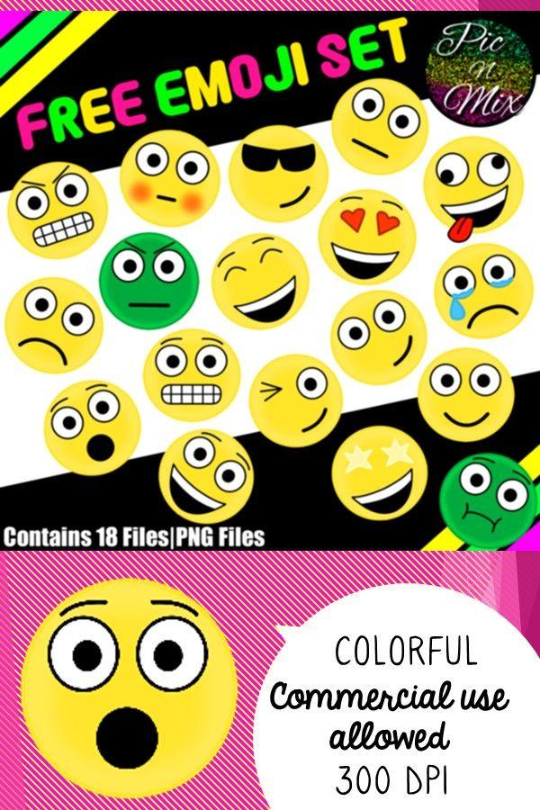 Emoji Clip Art Free In 2020 Free Clip Art Free Emoji Clip Art