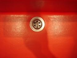 """""""Red Devil"""" Fiberglass Sink, Designed & produced by Bernaar Leenders"""