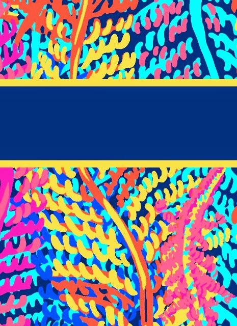 lilly pulitzer binder covers templates