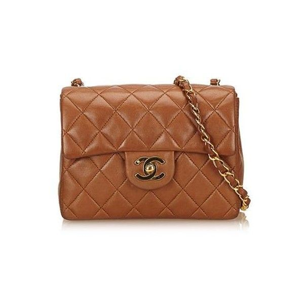 00e029046c43 Pre-Owned Chanel Vintage Lambskin Classic Square Mini Flap Bag ($2,950) ❤  liked