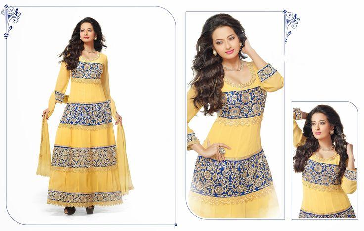 Shop for Designer Salwar Kameez on Ganesh Fashion. Buy Now : http://bit.ly/20YfFze Starting From : Rs. 523/- Free Shipping in India #DesignerSuits #SalwarKameez