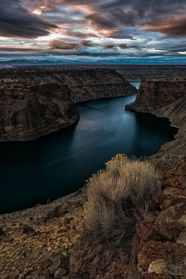 Map Of Oregon Deserts%0A Lake Billy Chinook  Vertical   Oregon   Photo By Roman Johnston