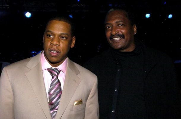 Jay Z and his future father in law Mathew Knowles in 2004