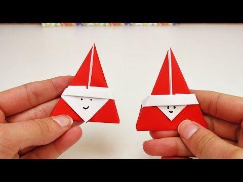 Süßes Nikolaus Origami DIY | Super niedliches Origami für den Nikolaus Tag | Weihnachtsmann - YouTube