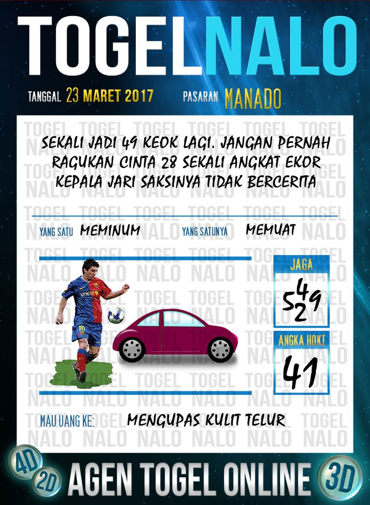 Kode Angka 4D Togel Wap Online TogelNalo Manado 23 Maret 2017