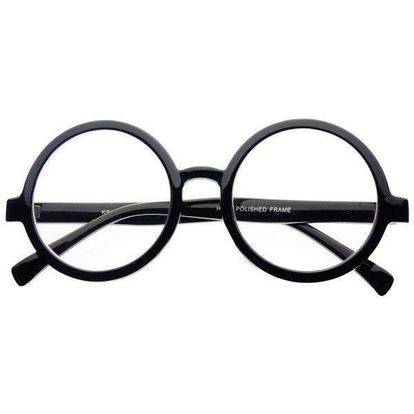 Large Retro Clear Lens Circle Round Eye Glasses Black R681 ($9.95) ❤ liked on Polyvore featuring accessories, eyewear, eyeglasses, glasses, fillers, retro eye glasses, black circle glasses, clear glasses, round eye glasses and black eye glasses
