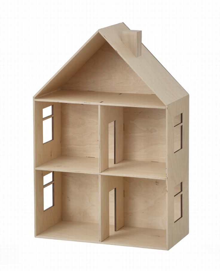"Material: Birch plywood Dimensions: 23.62"" H X 15.75"" W ferm LIVING Dollhouse $200 (!!) (((make this)))"