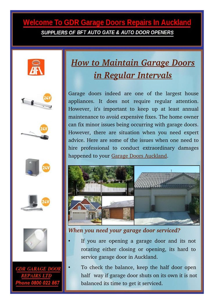 If you are opening a garage door and its not rotating either closing or opening, its hard to service garage doors in Auckland.