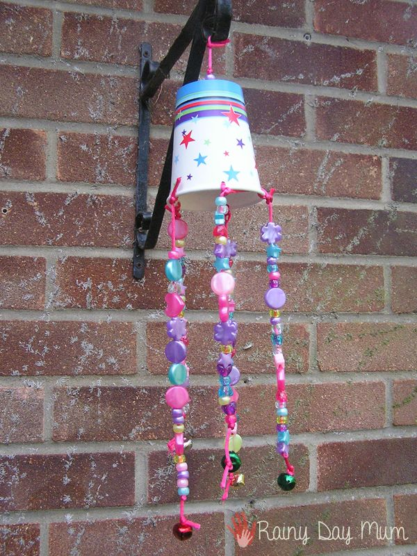 Drinks cup wind chime for toddlers to make