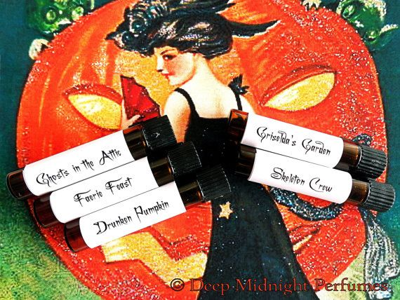 NEW FOR 2014 VICTORIAN HALLOWEEN Perfume Sampler Set by DeepMidnightPerfumes, $15.00  5 mini samples